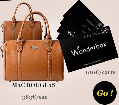 Gagnez des sacs de luxe Mac Douglas et des bons wonderbox avec Grazia