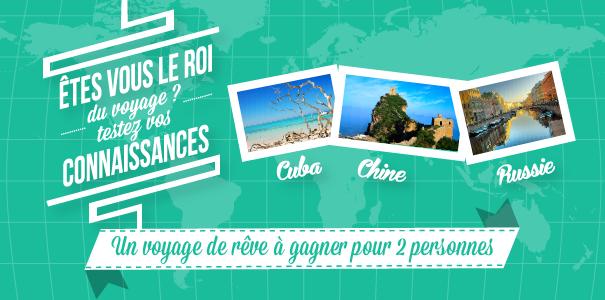 Gagnez un voyage en Chine, en Russie ou à Cuba avec Comptoir des Visas